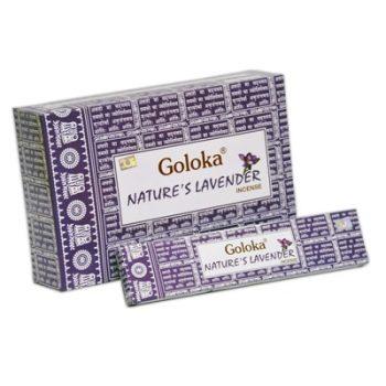 incienso goloka nature´s lavender lavanda inciensos.online