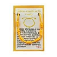 pulsera 7 nudos amarilla