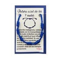 pulsera 7 nudos azul