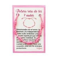 pulsera 7 nudos rosa