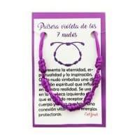 pulsera 7 nudos violeta