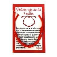 pulsera roja 7 nudos