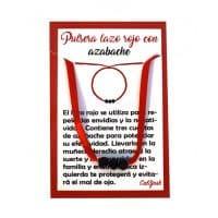 pulsera lazo rojo con azabache
